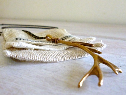 Bronze Antler Necklace