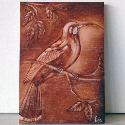 Huia Print on Plywood