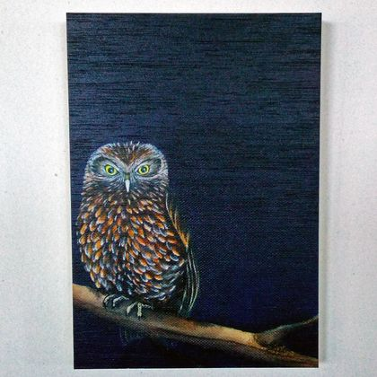 Morepork Print on Plywood