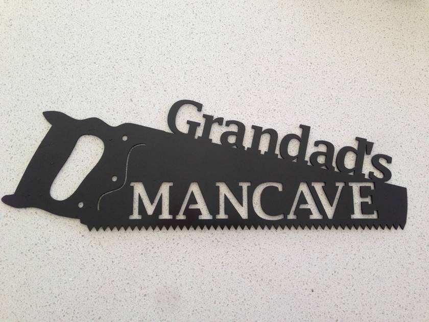 Grandads Mancave Sign for the Shed