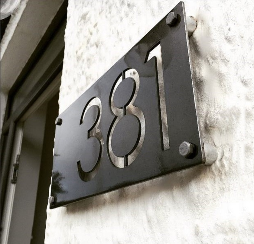 Rustic House Numbers 3mm Corten Steel