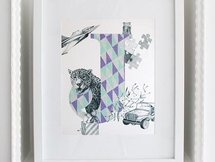 'J' alphabet print