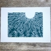 Summer. Woodcut print.