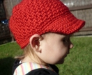 Toddler Crochet Newsboy Cap - 12m-3yrs - You Choose Color