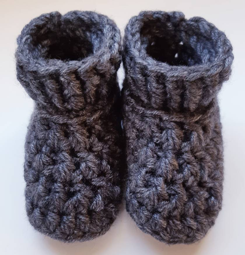 Classic collection baby boots - Charcoal