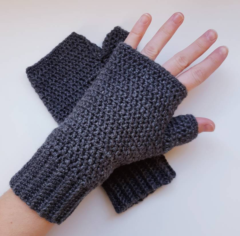 Classic collection fingerless gloves - Charcoal