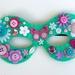 Kids Embellished Mask - turquoise