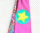 Kids Superhero Cape- Pink with Floral pattern