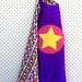 Kids Superhero Cape - Purple with Rainbow Coloured Triangles