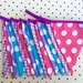 Bunting - Pink, Purple and Blue