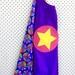 Kids Superhero Cape - Purple rainbow design