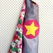 Kids Superhero Cape - Silver with Flowers