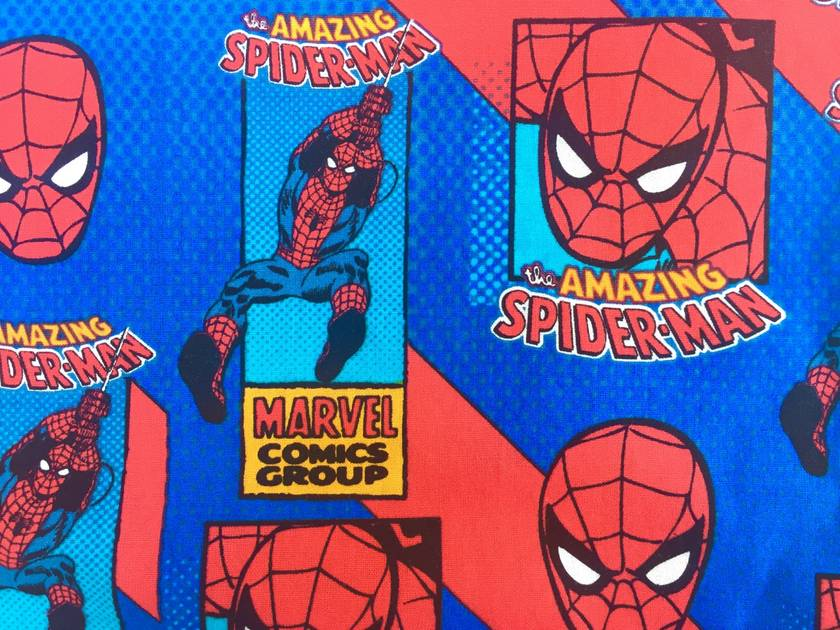 Kids Superhero Cape - Red with Spiderman