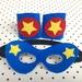 Kids Superhero Cuffs and Mask Set