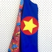 Kids Superhero Cape - Blue with Superheroes!