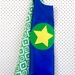 Kids Superhero Cape - Blue with Green design