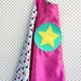 Kids Superhero Cape- Pink with Triangles
