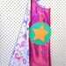 Kids Superhero Cape- Pink with Unicorns, Castles and Flowers
