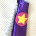 Kids Superhero Cape - Purple with Watermelon
