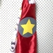 Kids Superhero Cape - Red with diggers