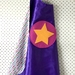 Kids Superhero Cape - Purple with Butterflies