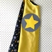 Kids Superhero Cape - Yellow with galaxy image