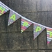 Bunting - Happy Birthday with triangles and stripes
