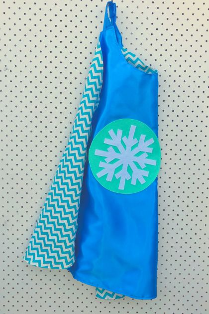 Kids Superhero Cape - Elsa/Frozen Inspired