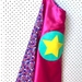 Kids Superhero Cape - pink with flowers