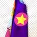 Kids Superhero Cape - Purple with Flowers