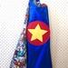 Kids Superhero Cape - Blue with Superheroes!