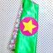 Kids Superhero Cape - green wth pink floral