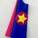 Kids Superhero Cape - Blue with red stars