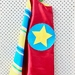 Kids Superhero Cape - Red with stripes