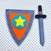 Knight or Prince Shield and Sword Set - Orange