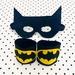 Kids Superhero Cuffs and Mask Set - Batman