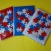Red White & Blue Puzzle Frame and Pieces