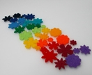 Felt Flower Rainbow set - minis