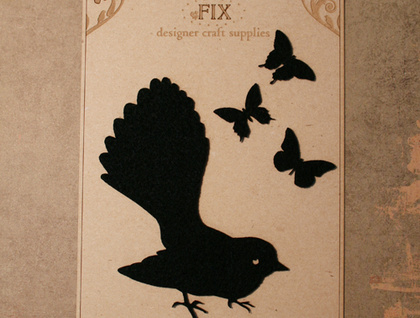 Felt Fantail for craft and scrapbooking