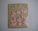 Six Pretty Pink Felt Butterflies