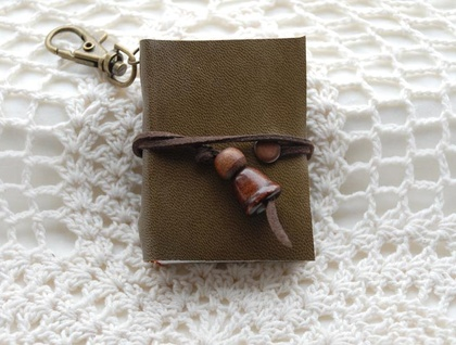Olive Notes on a Keychain - Reserved Listing
