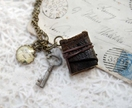 Historic Hokitika Book Necklace in Rustic Brown