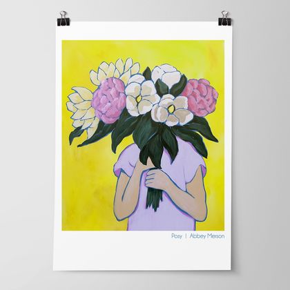 Posy I - Blooms Art Print by Abbey Merson
