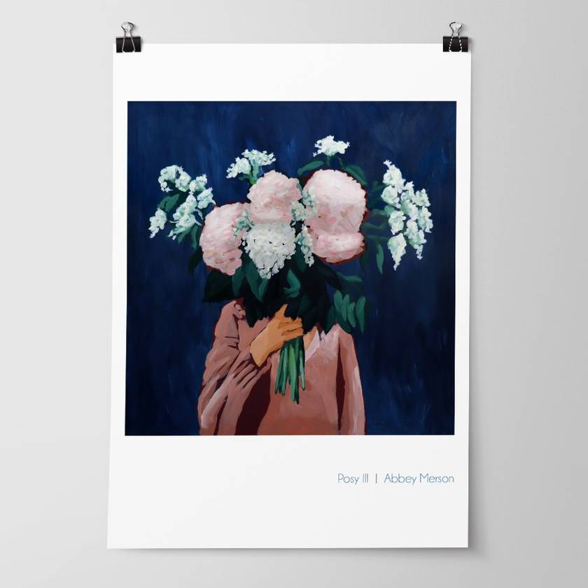 'Posy III - Midnight Blooms' Art Print by Abbey Merson