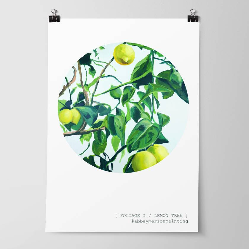 'Foliage I - Lemon Tree' Art Print by Abbey Merson