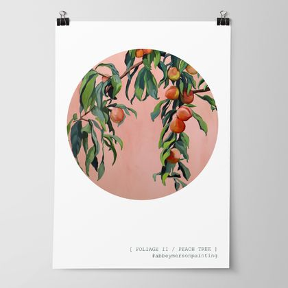 'Foliage II - Peach Tree' Art Print by Abbey Merson