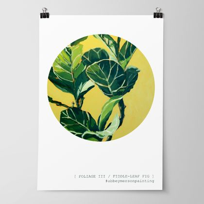 'Foliage III - Fiddle Leaf Fig' Art Print by Abbey Merson