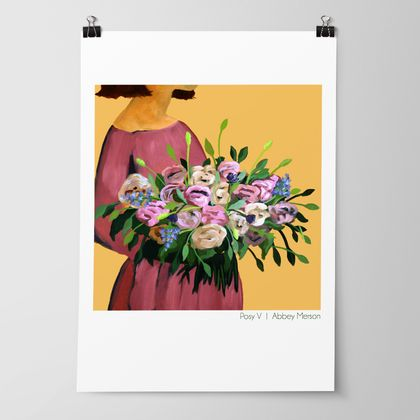 'Posy V - Autumn Blooms' Art Print by Abbey Merson