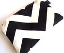 coin purse - chevron - black