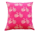 Cushion Cover - Pink Bicycles - SALE